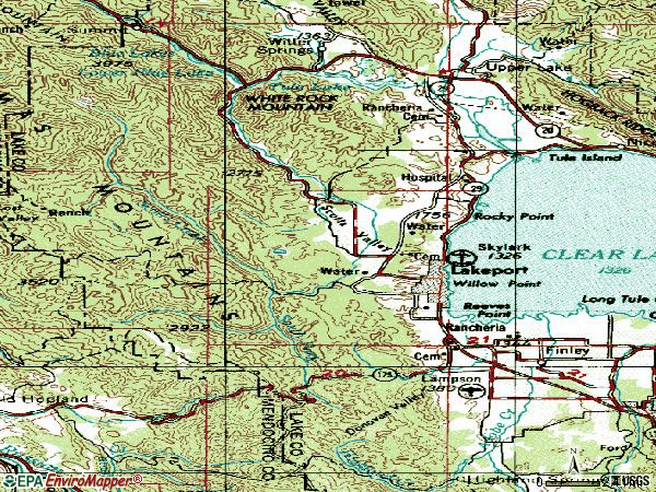 Zip code 95453 topographic map