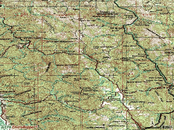 Zip code 95454 topographic map