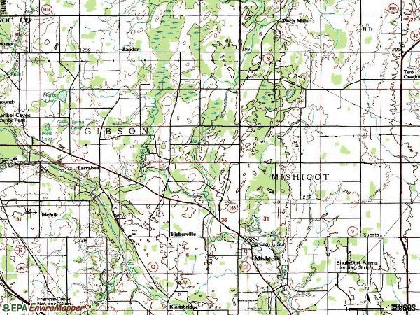 Zip code 54228 topographic map