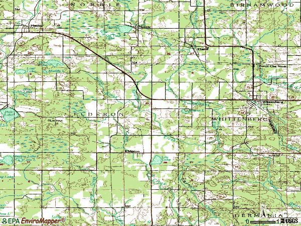 Zip code 54427 topographic map