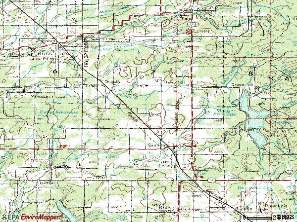Zip code 54433 topographic map