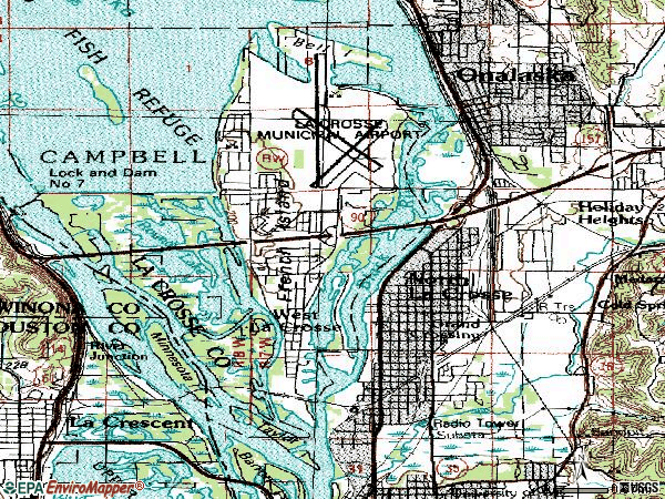 Zip code 54603 topographic map