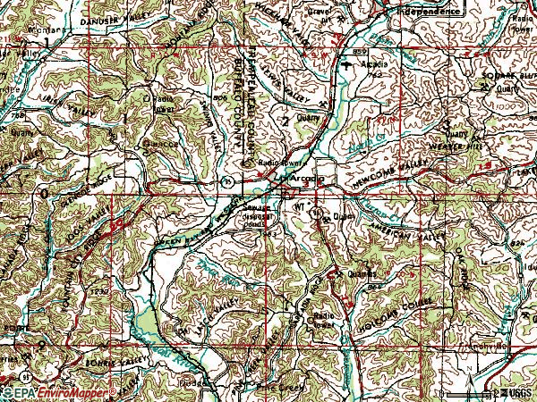 Zip code 54612 topographic map