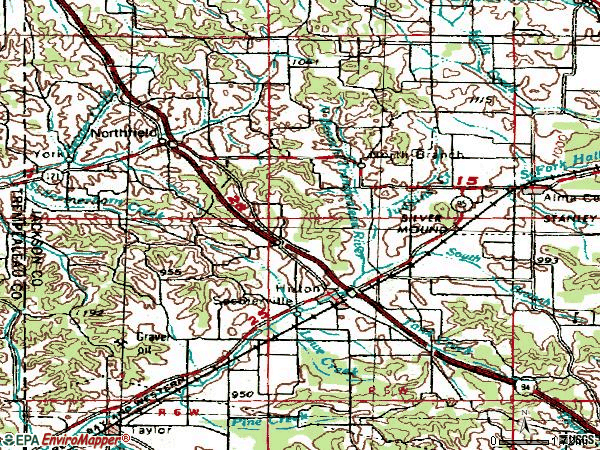 Zip code 54635 topographic map