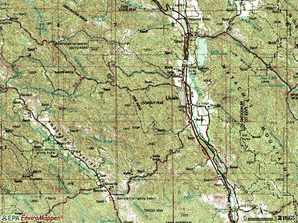 Zip code 95482 topographic map