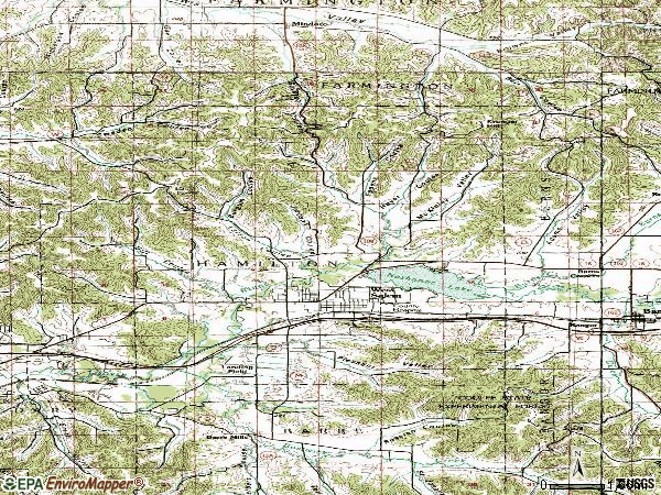 Zip code 54669 topographic map