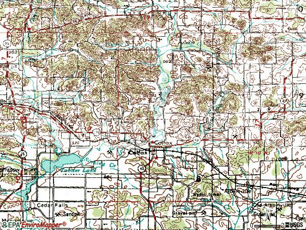 Zip code 54730 topographic map