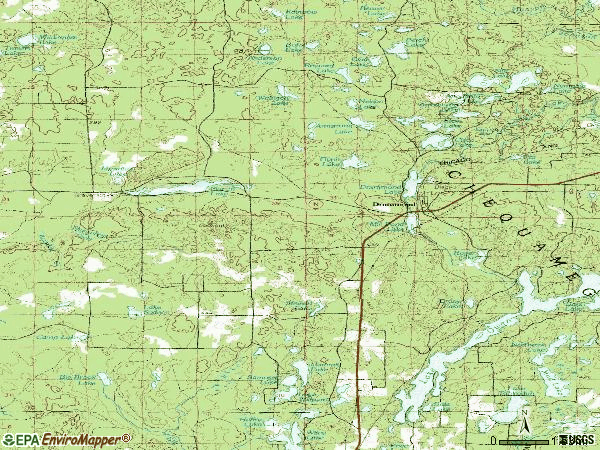 Zip code 54832 topographic map