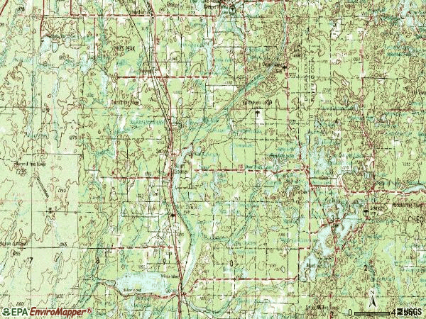 Zip code 54873 topographic map