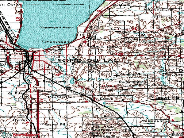 Zip code 54935 topographic map