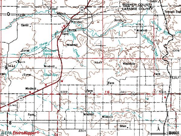 Zip code 82050 topographic map