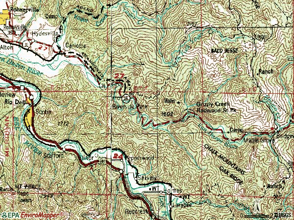 Zip code 95528 topographic map
