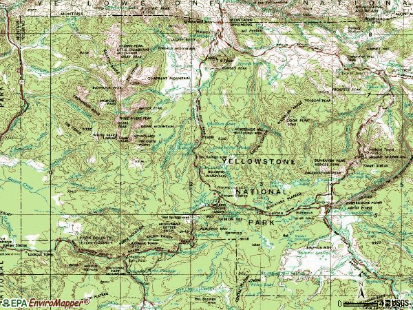 Zip code 82190 topographic map