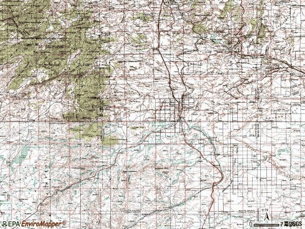 Zip code 82201 topographic map