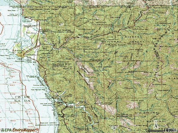Zip code 95531 topographic map