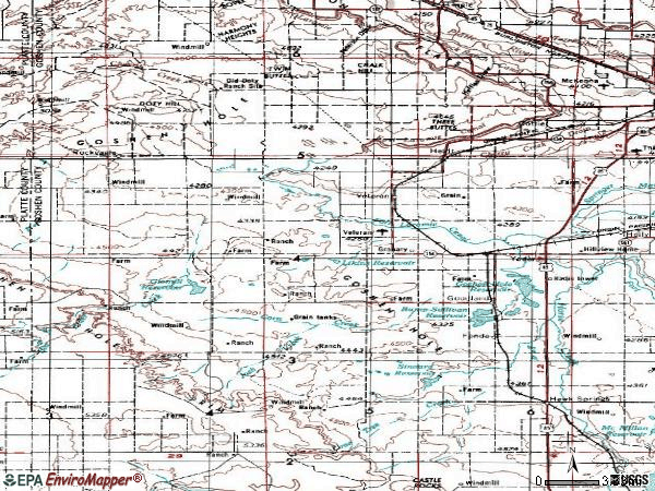 Zip code 82244 topographic map