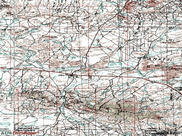 Zip code 82310 topographic map