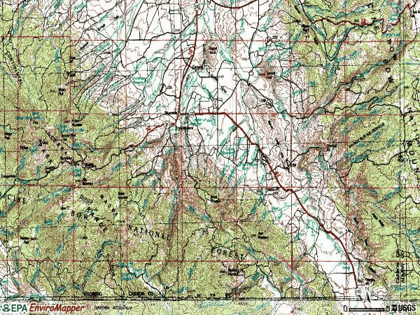 Zip code 82325 topographic map