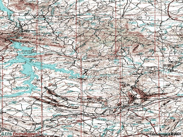 Zip code 82327 topographic map