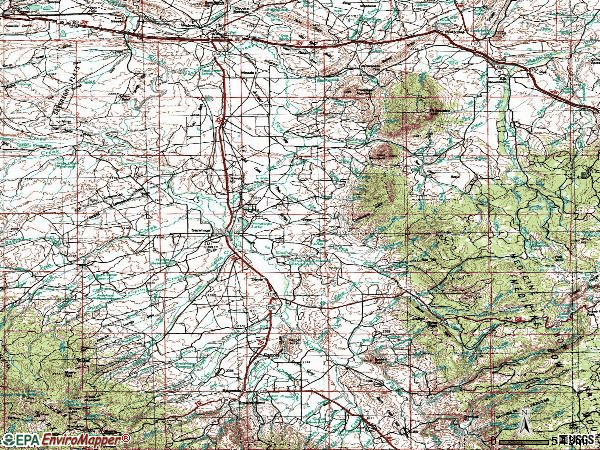 Zip code 82331 topographic map