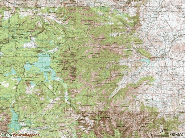 Zip code 82414 topographic map