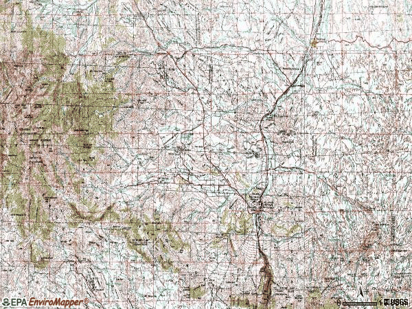 Zip code 82443 topographic map