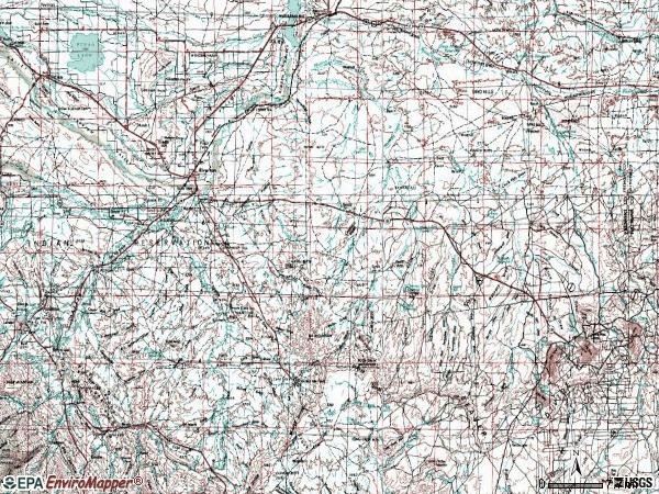 Zip code 82501 topographic map