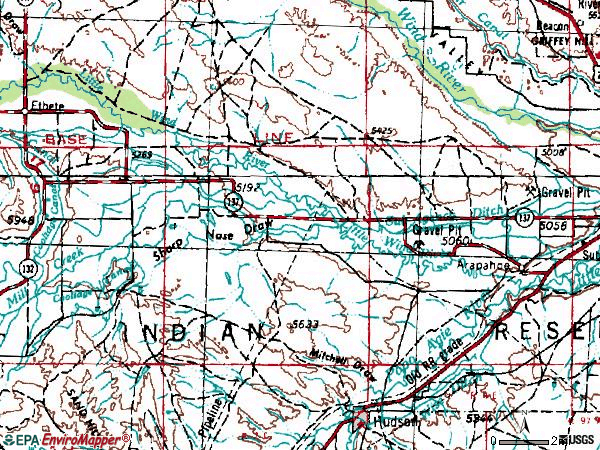 Zip code 82510 topographic map