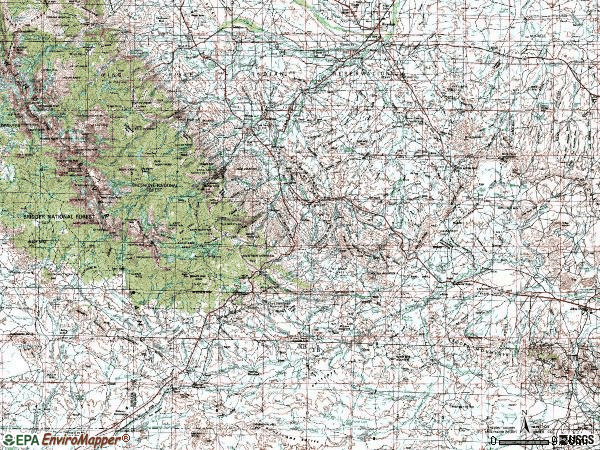 Zip code 82520 topographic map
