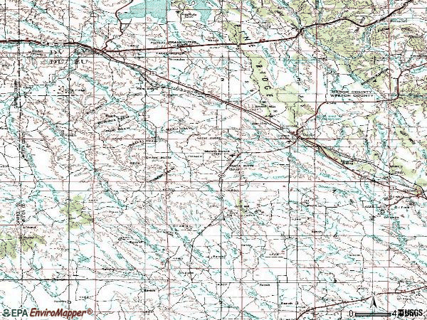 Zip code 82730 topographic map