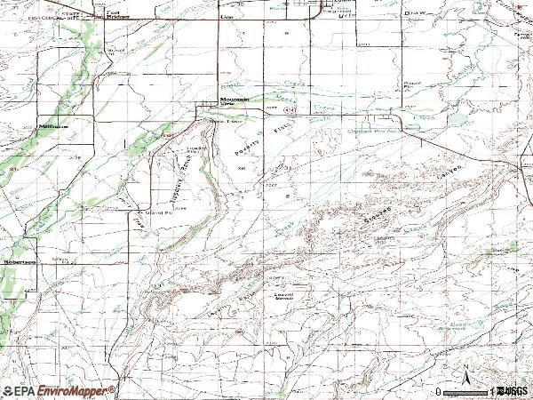 Zip code 82939 topographic map