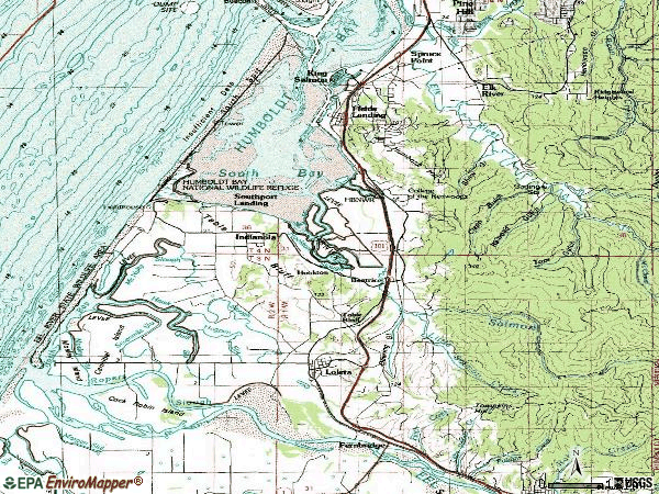 Zip code 95551 topographic map