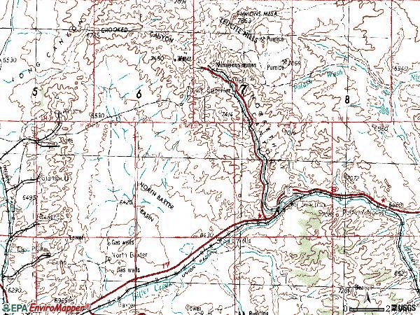 Zip code 82945 topographic map
