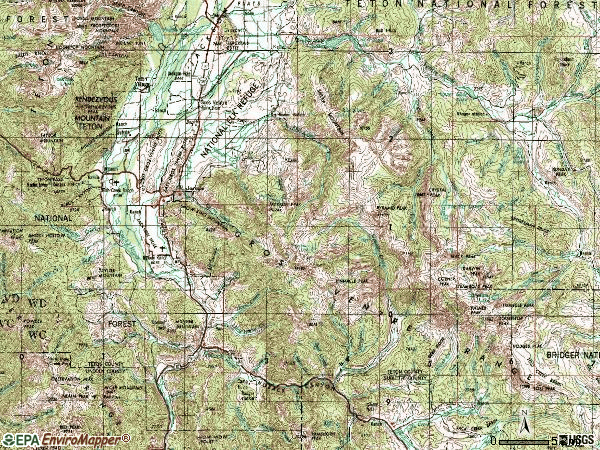 Zip code 83001 topographic map
