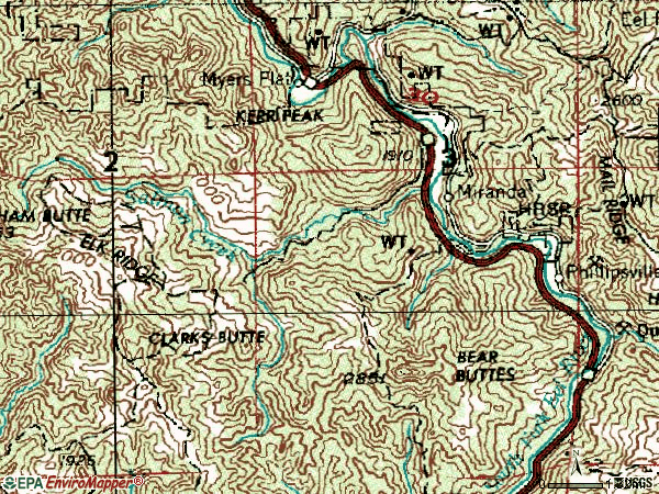 Zip code 95553 topographic map