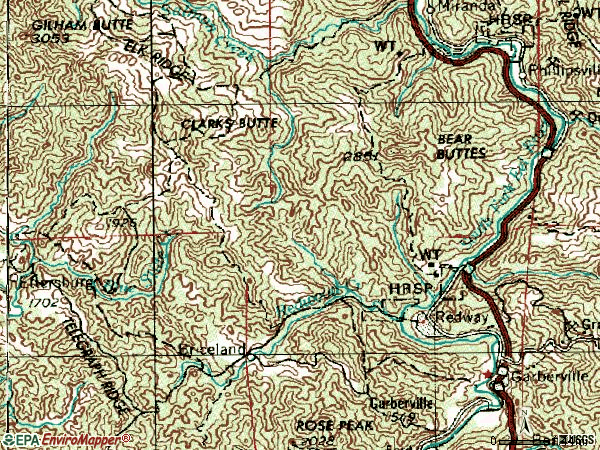 Zip code 95560 topographic map