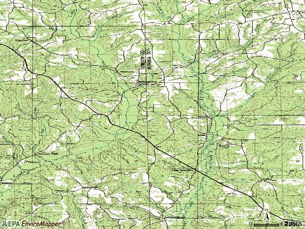 Zip code 36006 topographic map