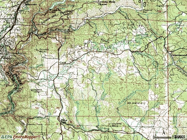Zip code 95614 topographic map