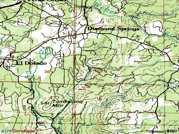Zip code 95619 topographic map