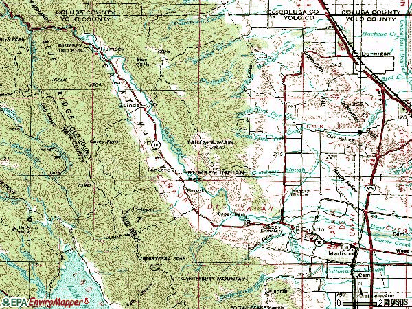 Zip code 95627 topographic map
