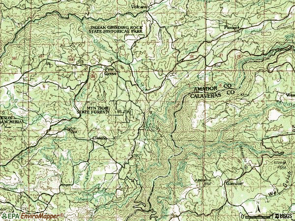 Zip code 95665 topographic map