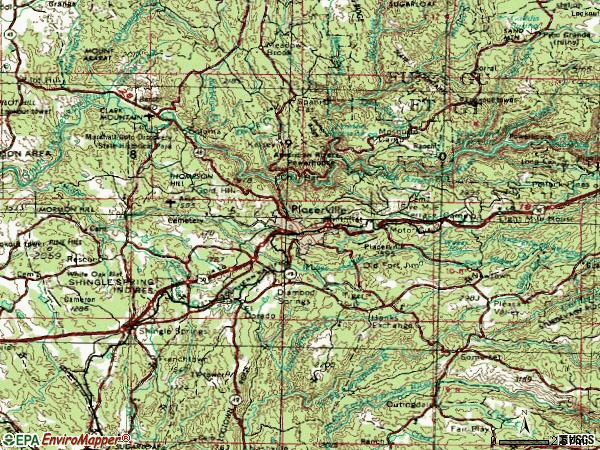 Zip code 95667 topographic map