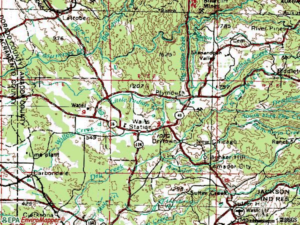 Zip code 95669 topographic map