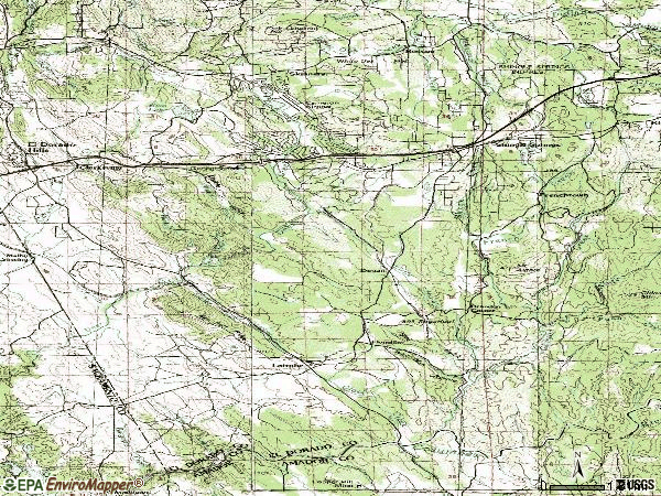 Zip code 95682 topographic map
