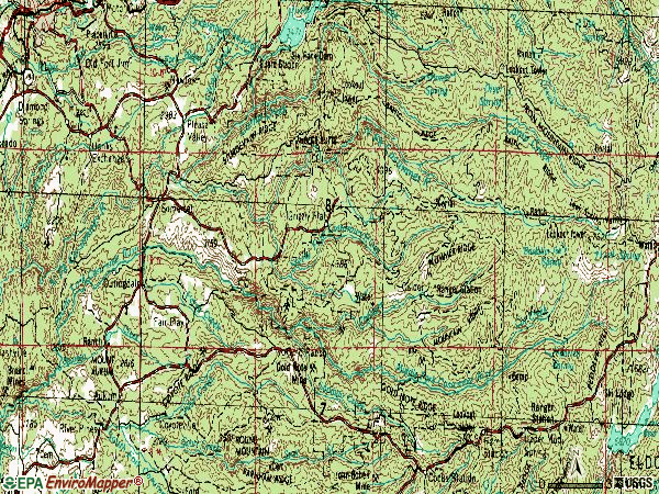 Zip code 95684 topographic map