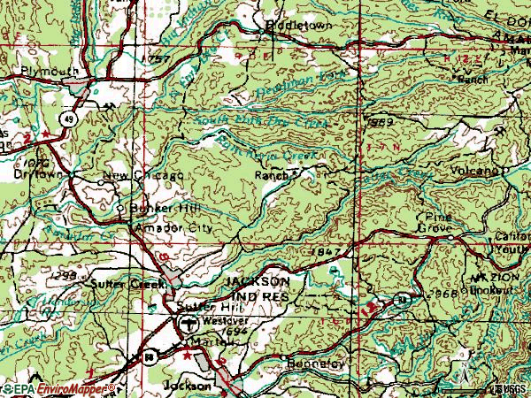 Zip code 95685 topographic map