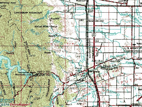 Zip code 95694 topographic map