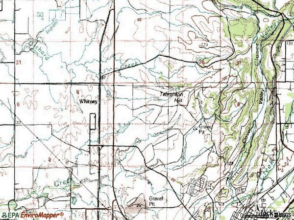 Zip code 95765 topographic map