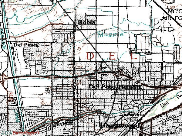 Zip code 95838 topographic map