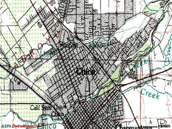 Zip code 95926 topographic map